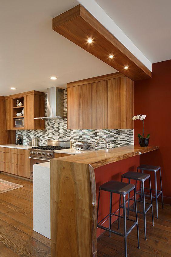 Kitchen Bar Ideas: Elegant Earth Bar