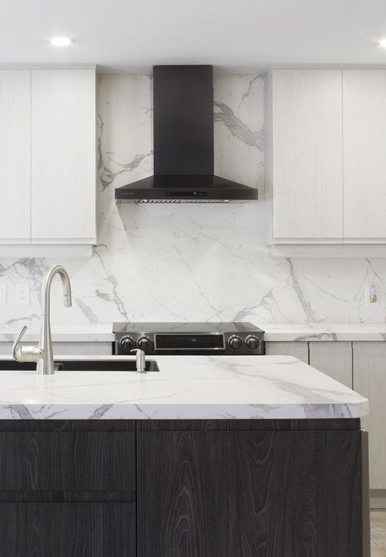 Kitchen Marble Ideas: Captivating Matching Marble