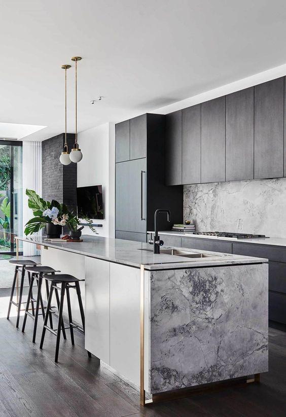 Kitchen Marble Ideas: Elegant Combination