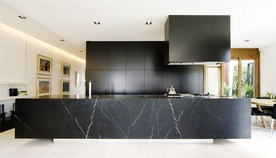 kitchen marble feature