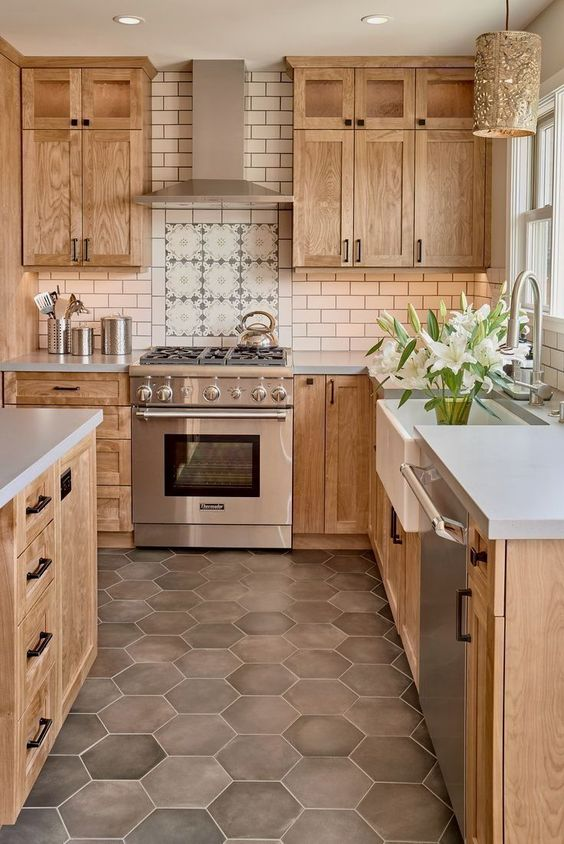 Kitchen Wood Ideas: Astonishing Washed Wood