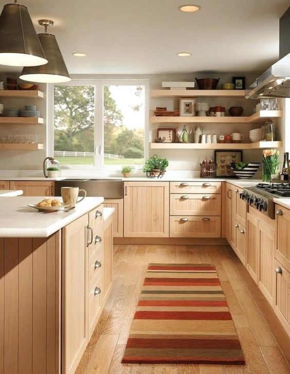 Kitchen Wood Ideas: Charming Soft Brown