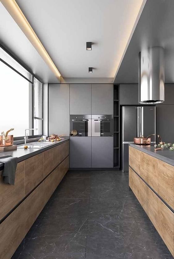 Kitchen Wood Ideas: Modern Wooden Kitchen