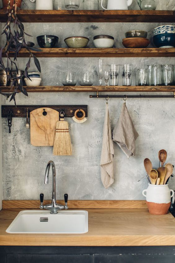 Kitchen Wood Ideas: Classic Wooden Sink