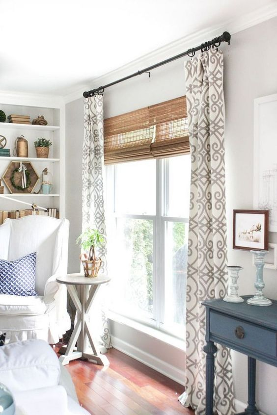 Living Room Curtains Ideas: Modern Curtains with Blinds