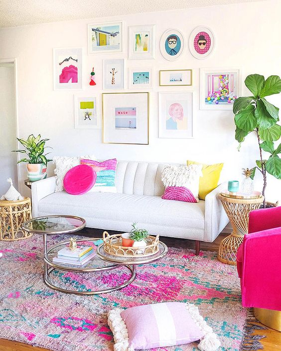 Living Room Pink Ideas: Playfully Captivating Pink