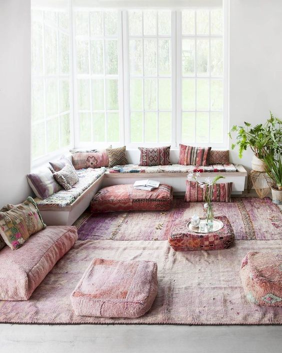 living room pink ideas 11