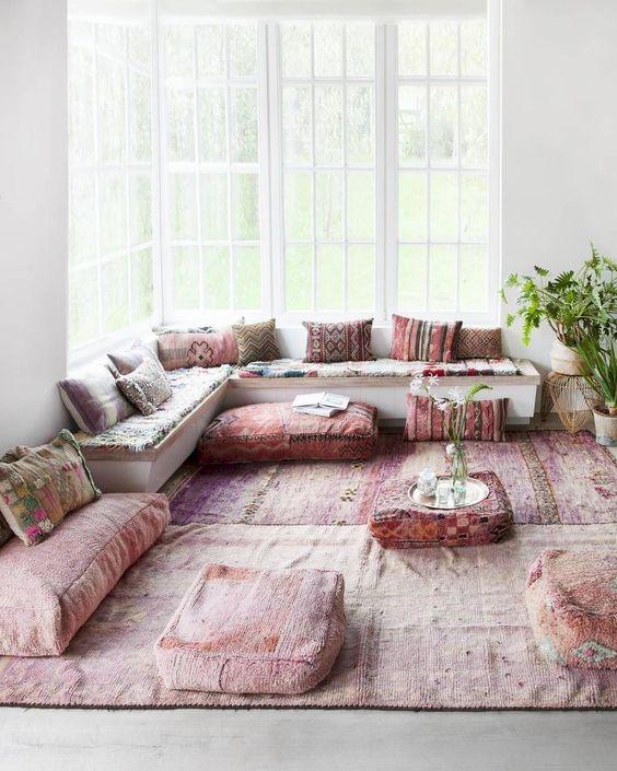 living room pink ideas 11