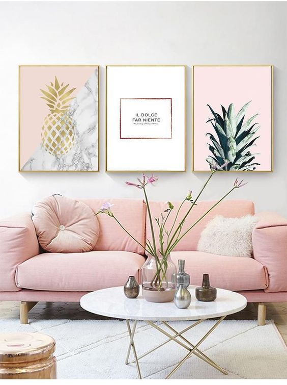 living room pink ideas 12