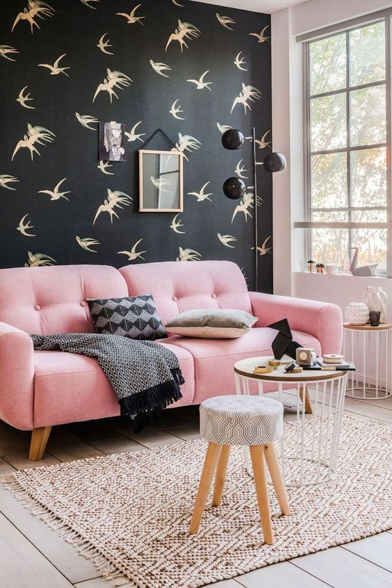 living room pink ideas 14