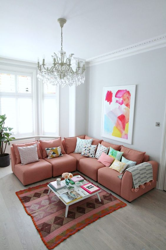 living room pink ideas 17