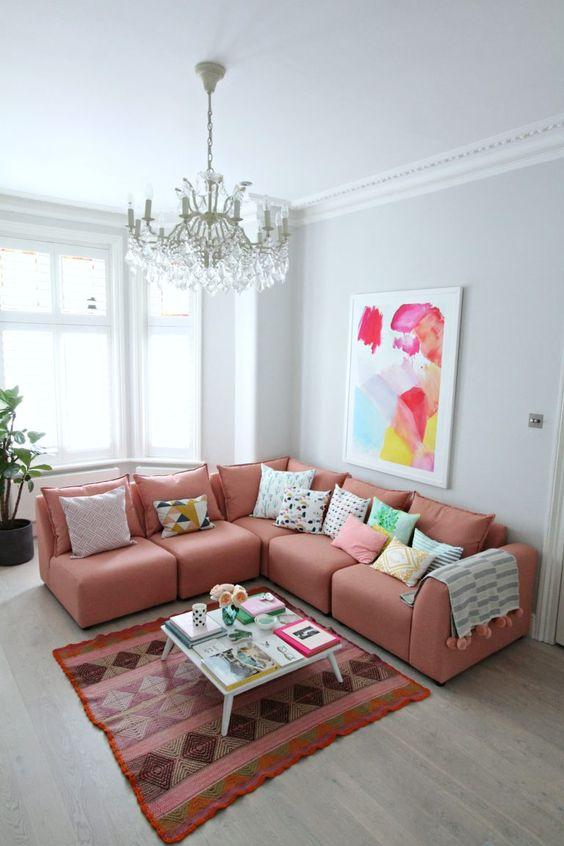 living room pink ideas 17