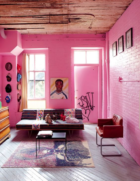 living room pink ideas 18