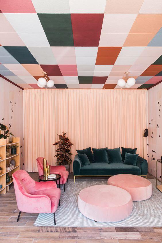 living room pink ideas 19