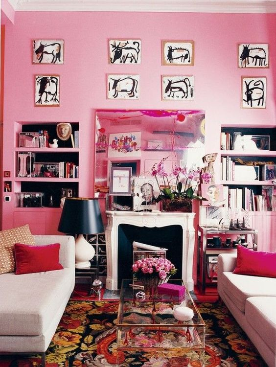 living room pink ideas 21