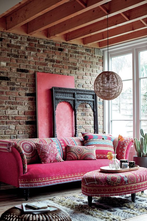 living room pink ideas 22