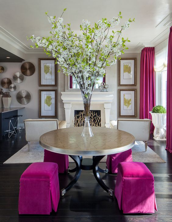 living room pink ideas 23
