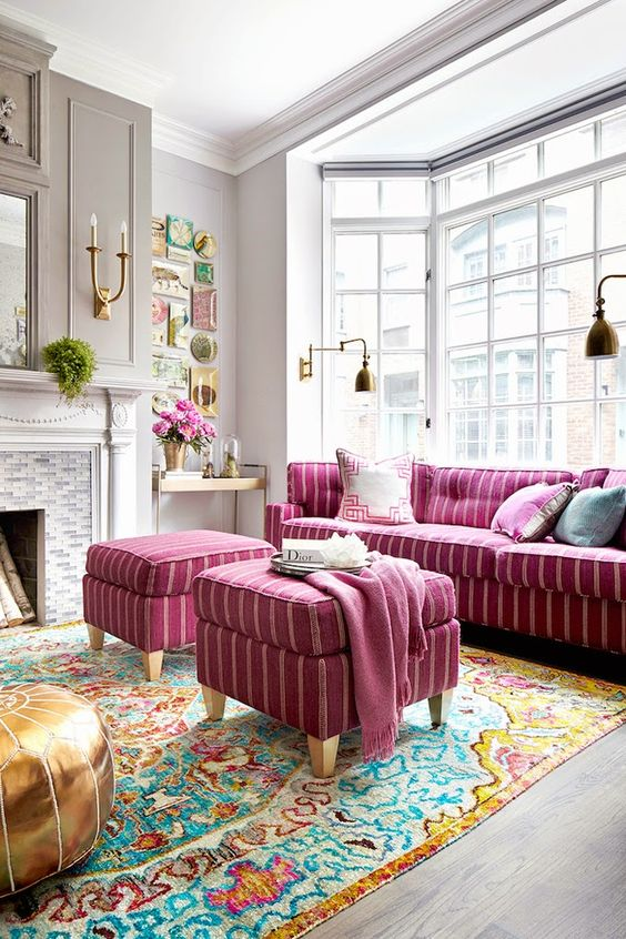 living room pink ideas 24