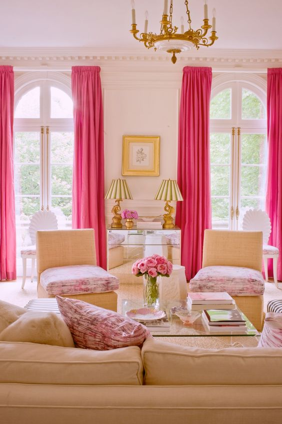 living room pink ideas 25