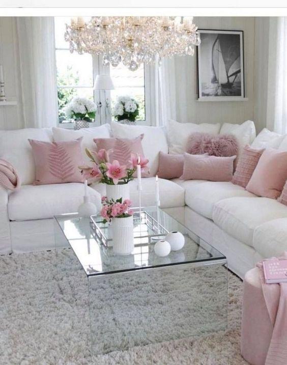 Living Room Pink Ideas: Astonishing Elegant Pink