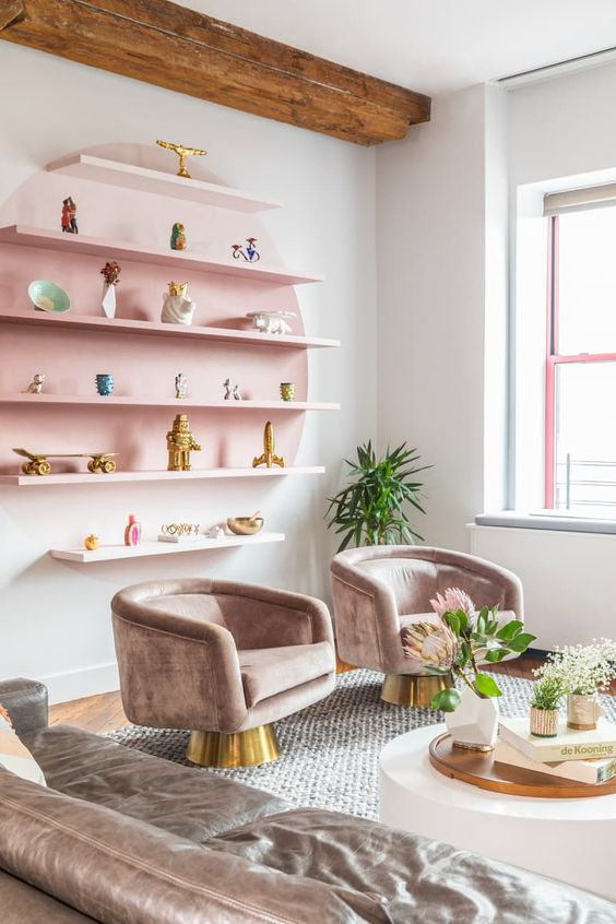 Living Room Pink Ideas: Chic Inspirational Pink