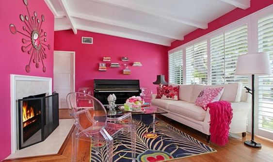 living room pink ideas feature