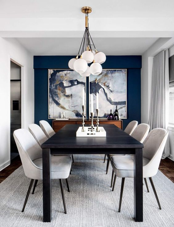 Navy Dining Room Ideas: Make It Artsy