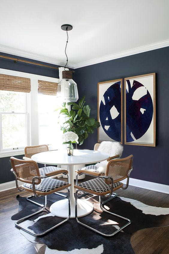 navy dining room ideas 10