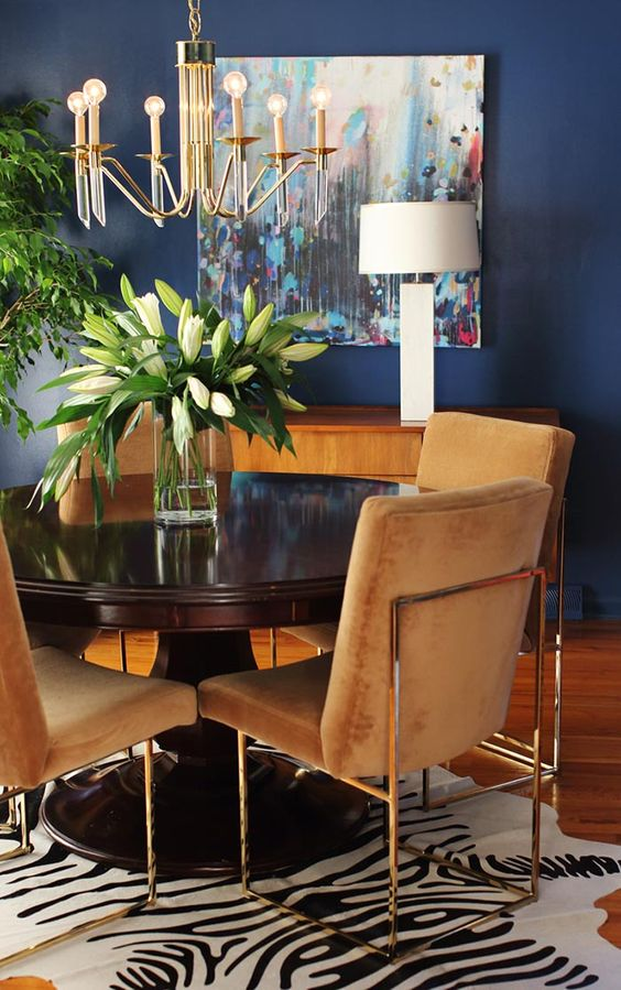 navy dining room ideas 11