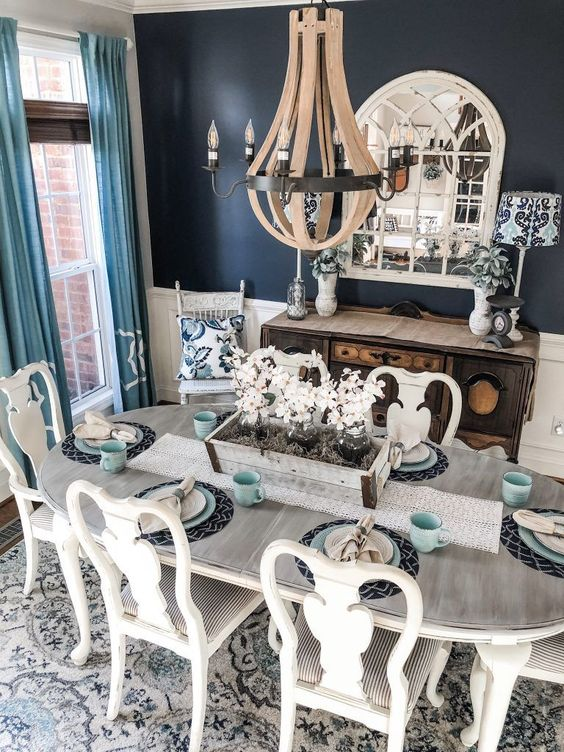 navy dining room ideas 12