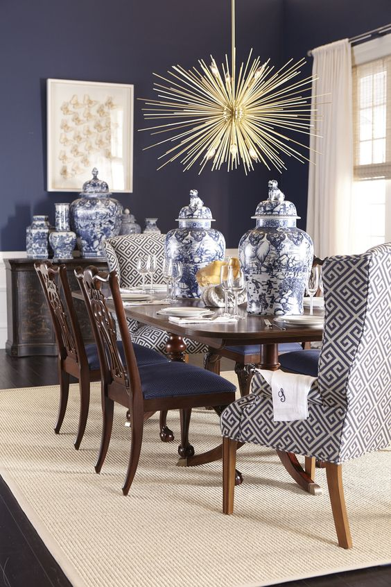 navy dining room ideas 14