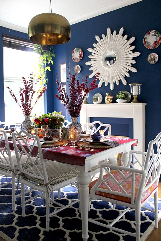 navy dining room ideas 15