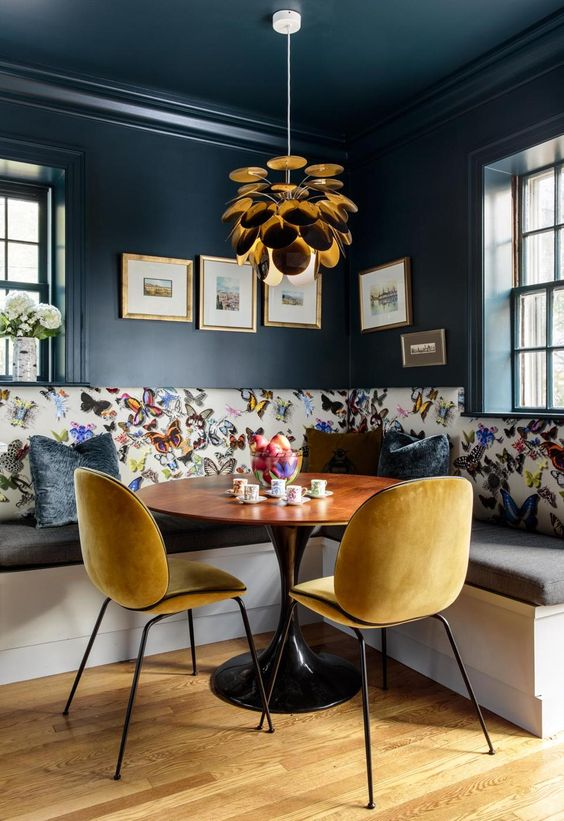 navy dining room ideas 17