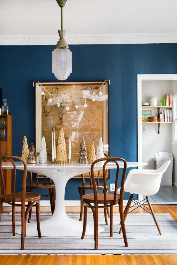 navy dining room ideas 19