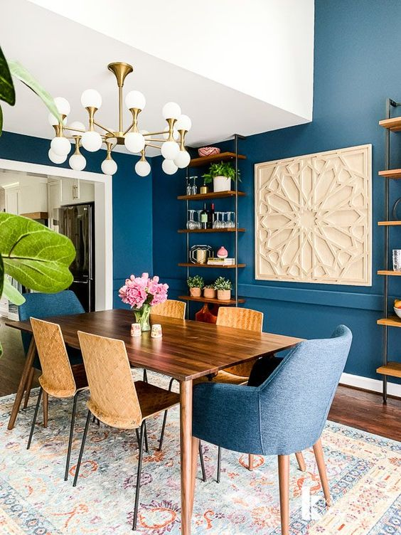 Navy Dining Room Ideas: Do Some Collaboration