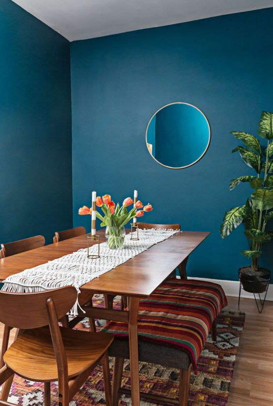 navy dining room ideas 21