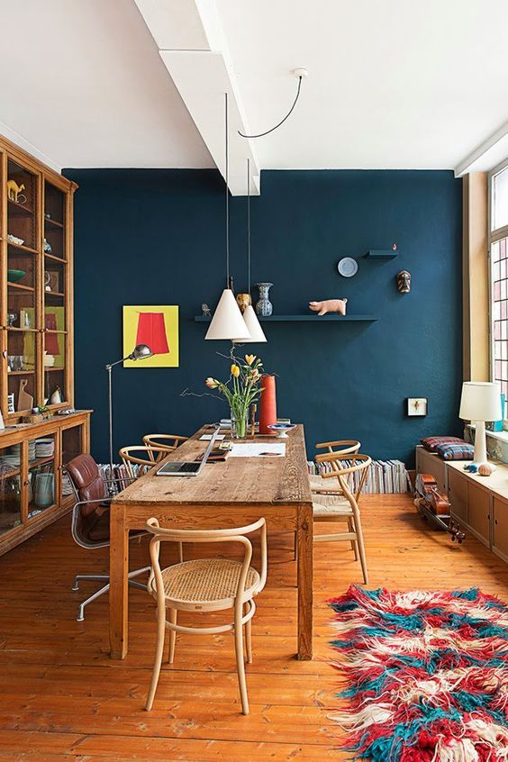 navy dining room ideas 22