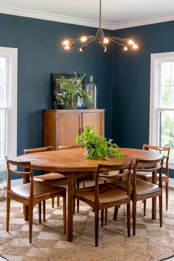 navy dining room ideas 23