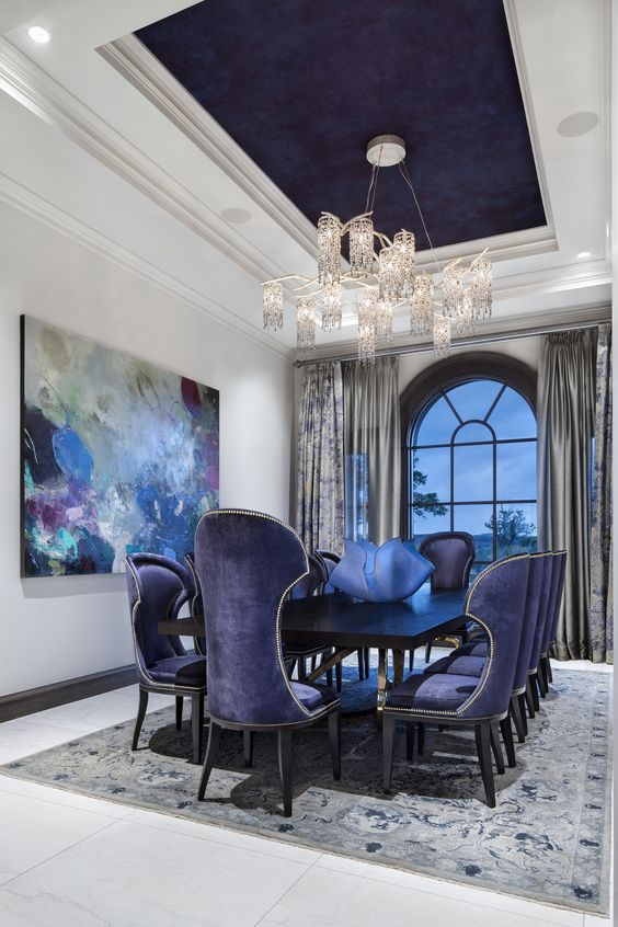 Navy Dining Room Ideas: Dramatize It!