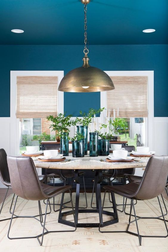 navy dining room ideas 9