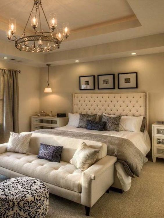 Romantic Bedroom Ideas: Gorgeous Earth Tone Color