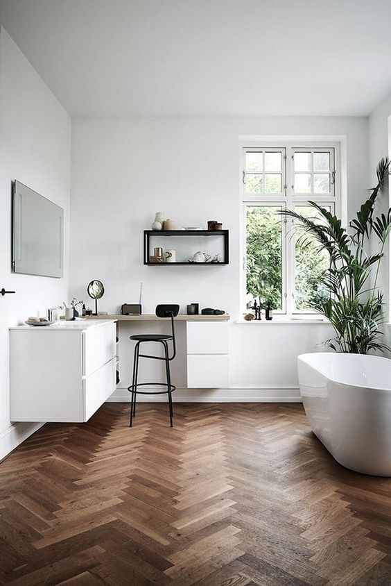 Scandinavian Bathroom Ideas: Put Plantations