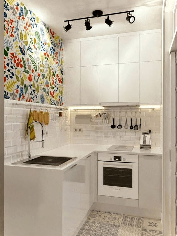 Tiny Kitchen Ideas: Simple All-white