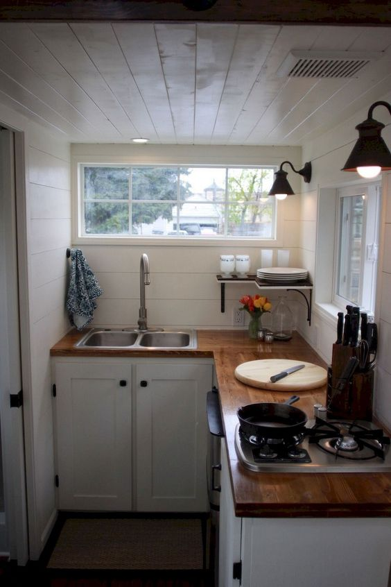 Tiny Kitchen Ideas: Simple L Shape Kitchen
