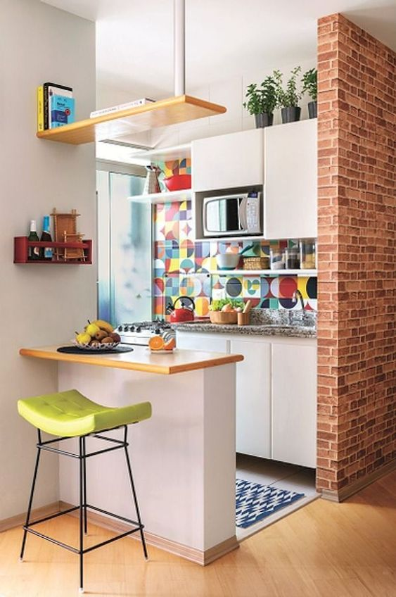 Tiny Kitchen Ideas: Fun and Colorful Kitchen