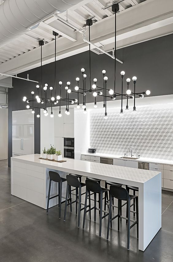 White Kitchen Ideas: Inspiring Industrial Concept
