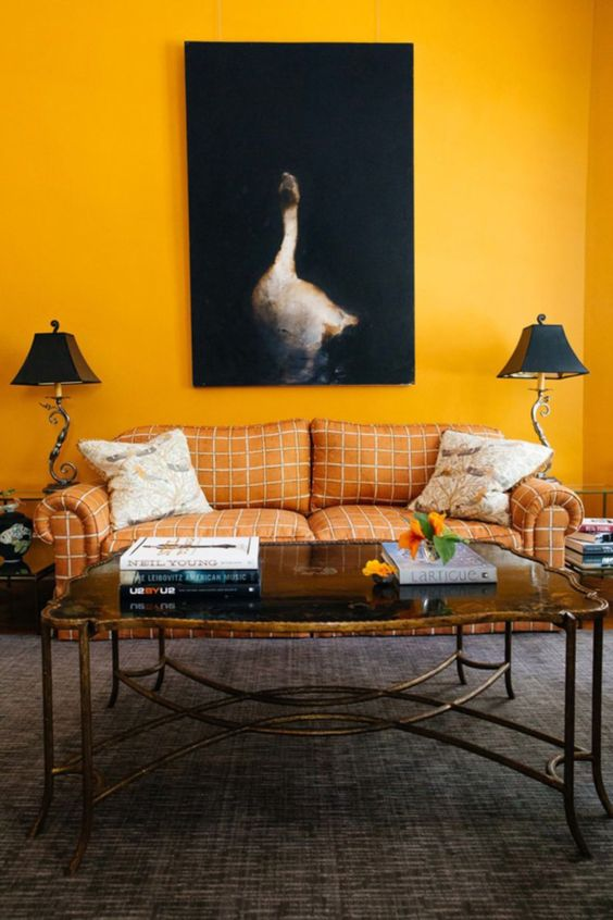 yellow living room 10