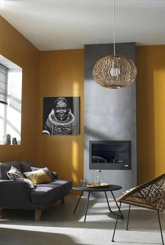 yellow living room 17