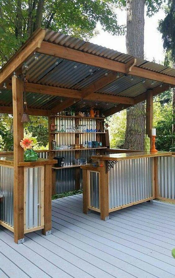Backyard Bar Ideas: Inviting Look