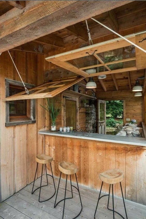 Backyard Bar Ideas: Cozy Earthy Bar